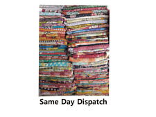 Kantha Quilt Indian Vintage Handmade Reversible Throw  Blanket Wholesale Lot US