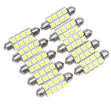 10X Cool White 578 6418 Festoon 42MM 5050 8SMD Dome Map Interior LED Light bulb