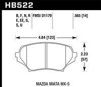 Disc Brake Pad Set-GT Front Hawk Perf HB522F.565 fits 2006 Mazda MX-5 Miata