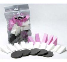 20 Make Up Sponges BLACK & PINK Blender Wedges Foundation Hypo Allergenic