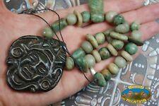 ANCIENT LOOKING MAYAN CEREMONIAL NECKLACE IN GUATEMALITA JADE & JADEITE MAYA