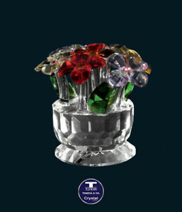 """[SPECIAL OFFER] """"Colourful Daisies Pot"""" Austrian Crystal Figurine was AU$107.00"""