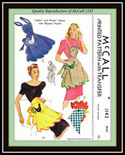 Novelty ROOSTER Pocket BIB or Waist APRON Uncut CRAFT Fabric Pattern McCall 1143