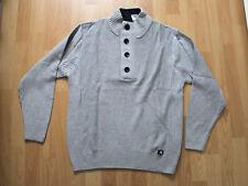 Man's World Herren-Pullover - Größe 48/50 - Langarm - Farbe Grau - Neu