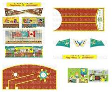 VINTAGE FISHER PRICE LITTLE PEOPLE 996 AIRPORT REPLACEMENT LITHOS STICKERS DECAL
