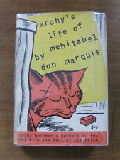 ARCHY'S LIFE OF MEHITABEL by Don Marquis -  1st/1st 1933 HCDJ - cat Cleopatra