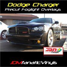 07-13 Charger Mopar Fog Light Yellow Overlays TINT Film Vinyl precut