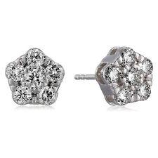 1 CT Genuine Natural Diamond Stud Earrings 14K Gold I1-I2 Clarity Push-Backs