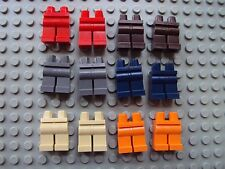 Lego Minifig ~ Mixed Lot Of 12 Legs/Pants People Parts Red Brown Tan Gray NEW!