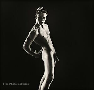 1950s BRUCE BELLAS of L.A. Vintage Male Nude JOE DALLESANDRO Photo Litho 12X16