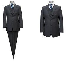 gestreifte Herren Anzug mit Weste*1370*Gr.110 Anthrazit