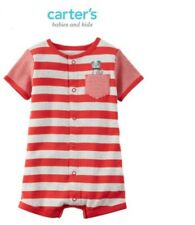 Carter's Snap-Up Cotton Romper - Nautical Green