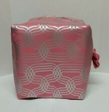 Soap & Glory LARGE Cosmetic/Make Up Bag in Pink/Silver  -New