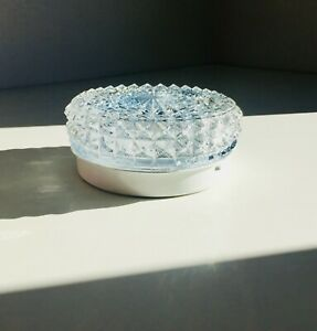 "6.5"" Vintage Aluminum Crystal Glass Flush Mount Lamp Light Ceiling Fixture Wall"