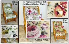 NEW ROSE CUSHION COVERS FOR CANE RATTAN WICKER CONSERVATORY GARDEN FURNITURE