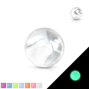 Body Jewelry Replacement Parts - 10pk Glow in the Dark Threaded Balls
