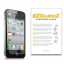 EZguardz Premium Real Tempered Glass Screen Protector Shield For Apple iPhone 4S