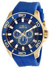 Invicta Men's Watch Pro Diver Quartz Analog Blue Dial Silicone Strap 28002