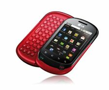 RED LG OPTIMUS CHAT C555 UNLOCKED CELL PHONE FIDO ROGERS CHATR TELUS BELL KOODO