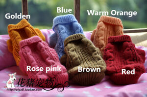 Knitted dog puppy jumper coat sweater for chihuahua mini yorkie Size XXXXS - XXS