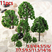 11pcs Artificial Model Trees DIY Train Railroad Diorama Wargame Scenery Decor