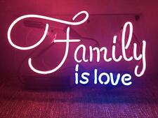 "Family Is Love Neon Sign Beer Bar Decor Gift 14""x10"" Light Lamp Bedroom"
