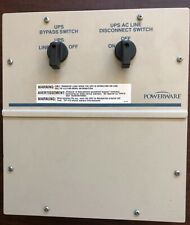 POWERWARE UPS MBS Maintenance Bypass Switch SINGLE Phase 15/20 Amp.