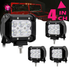 Roof Rack 4pcs 12volt led work lights Flood Cube Pods Offroad Fog Driving Light