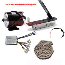 24V 500w Brush Motor Speed Controller Foot Pedal Switch Chain EBike Scooter ATV