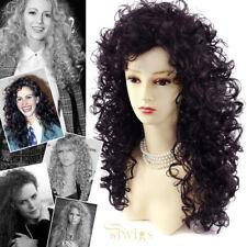 Wiwigs Untamed Long Medium Dark Brown Curly Wild Ladies Wig
