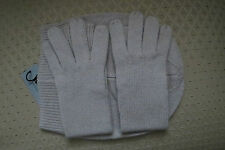 M.I.L.A. Cashmere Beanie and Glove Set Made in USA NWT – Light Camel - $298