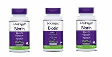 Natrol Biotin, Beauty, 10,000 mcg Maximum Strength Tablets 100 ea ( Pack of 3)