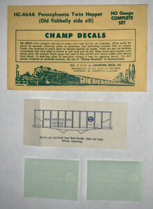 CHAMP HO DECAL-PENNSYLVANIA / PRR TWIN HOPPER - FISHBELLY UNDERFRAME -HC-464A