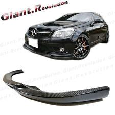 GH Type Carbon Fiber Front Bumper Lip 08-11 BENZ W204 C-Class Sedan AMG Package