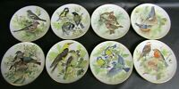 EIGHT BRADEX WWF SONGBIRDS OF EUROPE COLLECTORS PLATES BY URSULA BAND - FULL SET