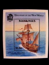BAHAMAS - SCOTT#729 - SOUVENIR SHEET - MNH - CAT VAL $13.00