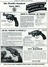 1950 Print Ad Smith & Wesson S&W Revolver .38 Terrier Military Police 357 Magnum