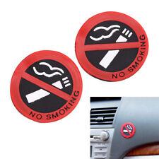 5 Pcs Soft Plastic No Smoking Sign Wall Window Car Sticker Decal Rubber Hot JH