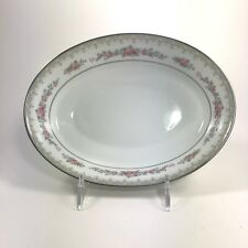 Noritake Contemporary Roselane 3093 Oval Vegetable Bowl Fine China