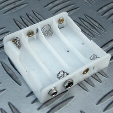 BATTERY HOLDER FOR 4 x AA R6, HR6, R6P 1.5V BATTERIES PP3 TYPE OUTPUT CONNECTION