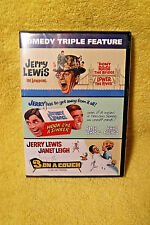 NEW/SEALED DVD! COMEDY TRIPLE FEATURE! JERRY LEWIS HOOK LINE SINKER + 2 MORE!