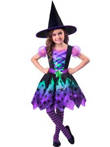 ★ Amscan Neon Hexe Witch Hexenkleid Kinderkostüm,kostüm 86-128 Kinder Witch Star