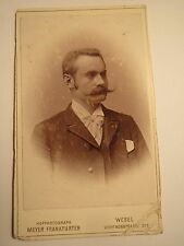 Wesel - Mann mit Bart im Anzug - Portrait / CDV