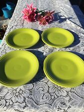 "FIESTA 4 NEW LEMON GRASS lime green DINNER PLATES 10-1/2""  Fiestaware PLATE"
