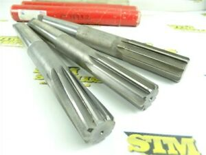 LOT OF 3 NICE! HSS 4MT CHUCKING REAMERS 32.MM & 35.MM CLEVELAND & REGAL