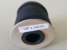 "USA 1/8"" x 100' Bungee Cord Shock Cord Bungie Cord Marine Grade Stretch Cord BLK"