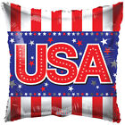 """Balloons 18"""" 4th of July Patriotic USA Stars Stripe Mylar Foil Party Decorations"""