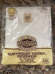 Vintage Boys Large 14/16 Long Sleeve Thermal Shirt Saugatuck Dry Goods New Kmart