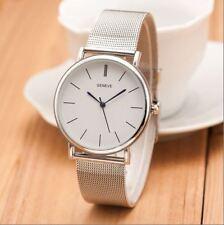 Thin Slim Silver Smart Watch Present Gift Birthday Analogue Top Quality UK