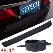 Black Trunk Door Sill Plate Trim Rear Bumper Guard Protect Pad Soft Rubber Cover
